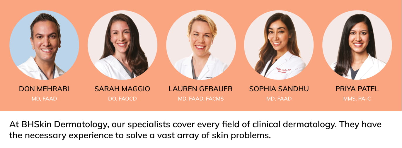 BHSkin team of best LA dermatologists.