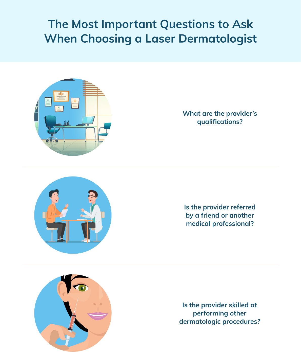 laser dermatology questions to ask